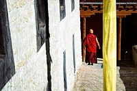 India, Jammu and Kashmir State, Himalaya, Ladakh, Indus valley, monk in the Buddhist monastery of Lamayuru (Yungdrung)