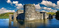 Beaumaris Castle built in 1284 by Edward 1st, considered to be one of the finest example of 13th century military architecture by UNESCO. A Unesco Wor...