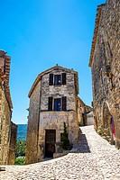 Lacoste Boulangerie, old bakery, Lacoste, Vaucluse, Provence-Alpes-Cote d'Azur, France.