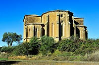 Church of San Miguel de Foces, XIIIth century, Romanesque-Gothic. Ibieca, Huesca province, Aragon, Spain