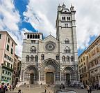 Genoa Cathedral, Genoa, Liguria, Italy.