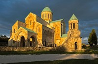 Bagrati cathedral or Gelaty Monastery at sunset, Kutaisi, Imereti Region, Georgia, Caucasus, Middle East, Asia, Unesco World Heritage Site.