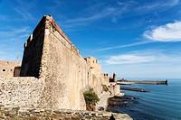 Collioure's royal castle, Collioure or Cotlliure, Pyrénées-Orientales, Occitanie, France, Europe.