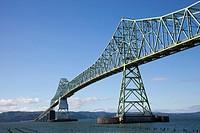 Astoria-Meger bridge over Columbia river connecting Oregon State to Washington State, Astoria, Oregon, USA, America.