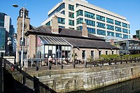 harbourmaster restaurant and bar in george dock Dublin docklands Republic of Ireland.