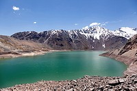 Lake of Yeso. Chile.