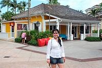 Tourist enjoying Bahamas