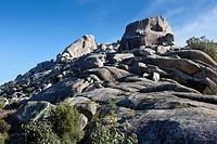 Brezos and Sirio cliffs in the Pedriza. Regional Park del Ato Manzanares. Manzanares el Real. Madrid. Spain. Europe.