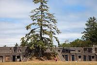 Battery Pratt, Fort Stevens, historical site, area of Warrenton, Astoria, Oregon, USA, America.
