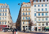 La Place Bellecour, Lyon, Auvergne-Rhone-Alpes, France, Europe. . A UNESCO world heritage site at the heart of Presqu'ile (peninsula) between the Saon...