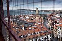 Spain, Basque Country, Bizkaia, Portugalete, Puente Colgante