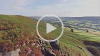 Danby Dale Ridge with flowering heather - North Yorkshire Moor National Park, England