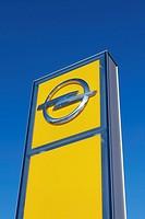 Opel signboard.