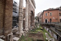 Roman ruins in Rome city Italy