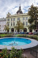 Neo-Renaissance building of Mestanska Beseda - Burgher Meeting Hall in Pilsen city, Czech Republic.