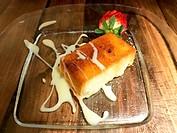 Torrija with cream. Spanish Holy Week dessert.