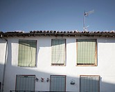 Facade in Hervás, Extremadura, Spain.