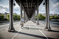 Bir Hakeim Bridge, Paris, France.