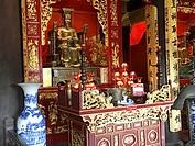 Statue of Confucius. Dai Tanh sanctuary. Temple of literature, Hanoi, Vietnam.