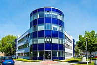 Azba building at Adlershof Science and Technology Park Park in Berlin, Germany.