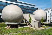 Old, doused, constant temperature ball laboratory at the Science and Technology Park in Adlershof Berlin, Germany.