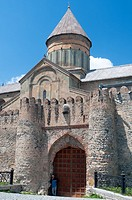 The 11th-century Svetitskhoveli Cathedral, mother church of the Eastern Orthodox church in Mtskheta, Republic of Georgia.