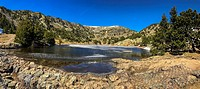 Lake Achard in the Belledonne mountains, Isere, France