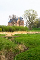 view at loevestein castle at gelderland, holland