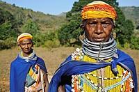 Women belonging to the Bonda tribe ( Odisha state, India).
