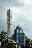 New York City, Storm Clouds over Manhattan.