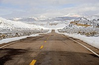 Hwy 12, a scenic byway, Henrieville, Utah, USA.