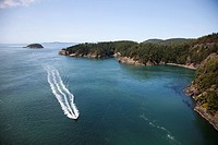 Deception Pass and Deception State Park, Fidalgo Island and Whidbay Island, State of Washington, USA, America.