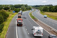 Cumbria, England, UK. M6 Motorway near Carlisle.