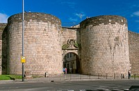 Roman walls - San Pedro gate (18th century), Lugo, Region of Galicia, Spain, Europe.