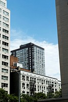New York City, Manhattan, Looking at East 66th Street From Third Avenue.