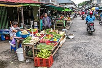 Pasar Turi vegetables market, Singkawang, West Kalimantan, Indonesia