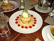 Dessert. Restaurant at Siem Reap city. Cambodia.