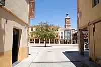 Almazan in Soria province Castilla Leon Spain. The main square