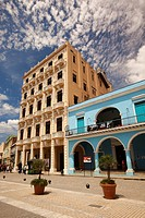 View to the Plaza Vieja square in Old Havana, La Habana, Cuba, West Indies, Central America.
