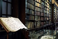 Church and convent of Santo Domingo (16th century) in Lima, Peru.Old library.