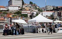 Markets Stalls Riverside in Vila Nova de Gaia in Porto - portugal.