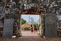 Malaysia, Malacca state, Malacca, Unesco Wold Heritage, St Paul church remain.