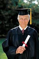 Senior graduate man