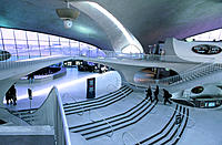 Interior view of the TWA terminal at John Fitzgerald Kennedy airport. New York City. USA