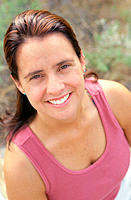 Portrait of woman in tank top