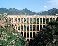 Spain, Andalusia, Costa del Sol, Nerja, Roman aqueduct