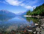 Lake McDonald. Glacier National Park. Montana. USA