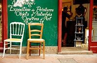 Antiques shop. Perpignan. France