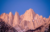East face of Mount Whitney. Inyo National Forest. Eastern Sierra Nevada. California. USA