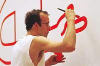 Keith Haring, American Artist, 1984